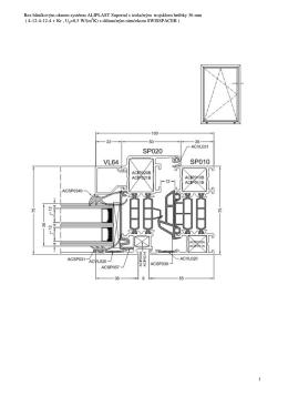 1 Rez hliníkovým oknom systému ALIPLAST Superial s izolačným