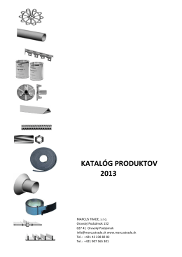 KATALÓG PRODUKTOV 2013