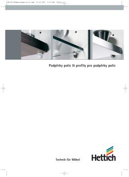 Katalóg Podperky políc & profily pre podperky políc