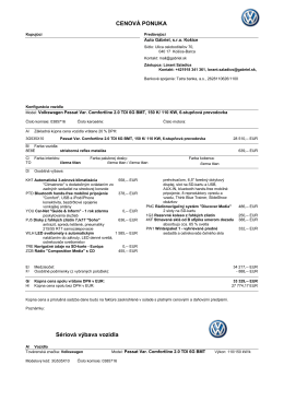 cenová ponuka vozidla 385716
