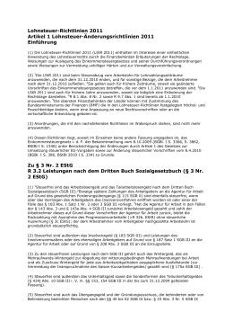 Lohnsteuerrichtlinien 2011