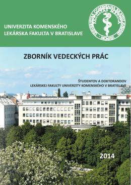zborník vedeckých prác 2014 - SVOC