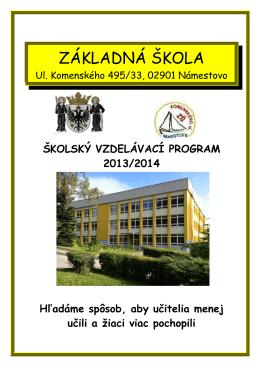 Školský vzdelávací program 2013/2014