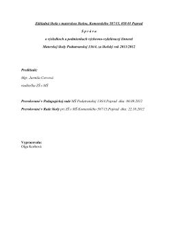 Základná škola s materskou školou, Komenského 587/15, 058 01