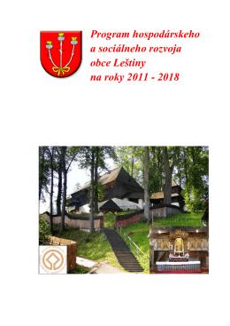 PHSR Leštiny 2011 - 2018 - Žilinský samosprávny kraj
