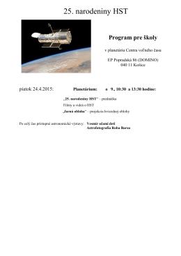 Program pre školy