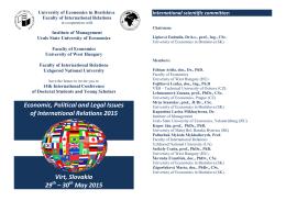 pozvánka - Ekonomická univerzita v Bratislave