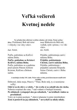 Kvetná nedeľa - brožúrka pre ľud s kompletným textom