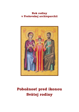 Pobožnosť pred ikonou Svätej rodiny