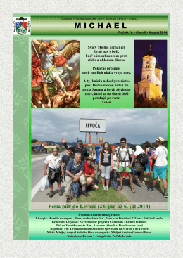 Michael - august 2014 - Rímskokatolícka cirkev Farnosť Levice mesto