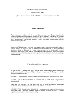 I. Úvodné ustanovenia Tento dokument v súlade s § 40 a nasl