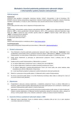 Obchodné a licenčné podmienky - Výskumný ústav geodézie a