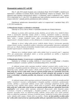Ekonomické sankcie EÚ voči RF (PDF)