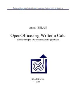 OpenOffice.org Writer a Calc