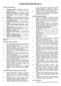 Prevádzkový poriadok spoločnosti TESATEL, spol