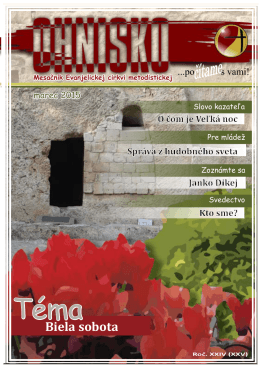 Marec 2015 - Evanjelická cirkev metodistická