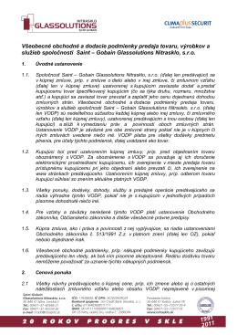 Všeobecné obchodné a dodacie podmienky predaja (.pdf)