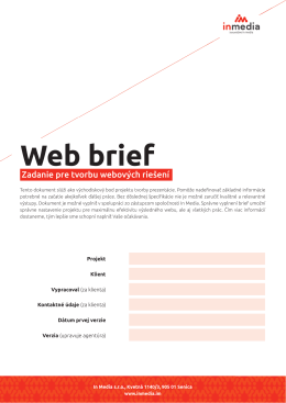 Stiahnite si web brief