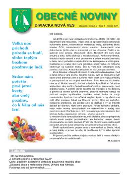 Obecné noviny č. 2 - Diviacka Nová Ves