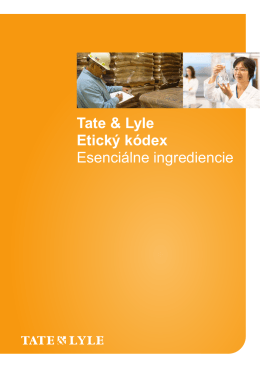 integrita - Tate & Lyle