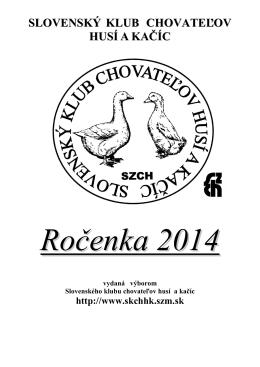 Ročenka _ 2014 - Slovenský klub chovate¾ov husí a kaèíc