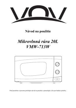 Mikrovlnná rúra 20L VMW-713W - dia
