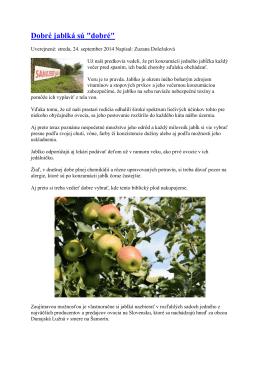 Dobré jablká sú