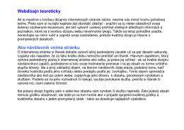 Webdizajn teoreticky, pdf
