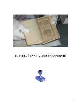 3. Druhé helvétske vierovyznanie