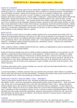 REDUKCIA II. - Racionálna výživa, omyly, výhovorky