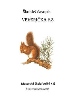 Školský časopis VEVERIČKA č.3