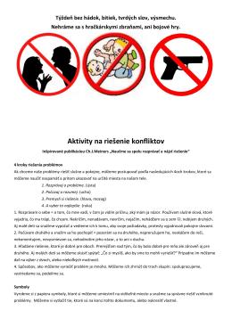 Aktivity na riešenie konfliktov