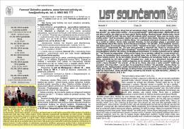 list solincanom29.cdr - Farnosť Dobrého Pastiera