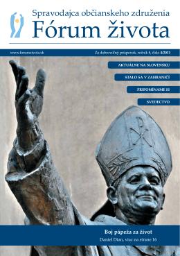 Spravodajca občianskeho združenia Fórum života 4/2011 (pdf, 624 kB)