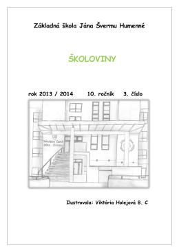 Školoviny 2013-2014 č.3 - Základná škola Jána Švermu Humenné