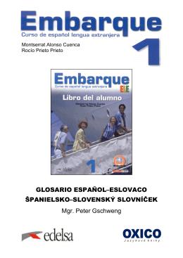 Embarque 1 GLOSARIO ESP-ESLOVACO