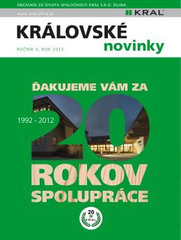 KRALOVSKE NOVINKY 2013.indd