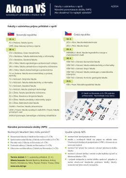 Fakulty s uzávierkou príjmu prihlášok v apríli Slovenská
