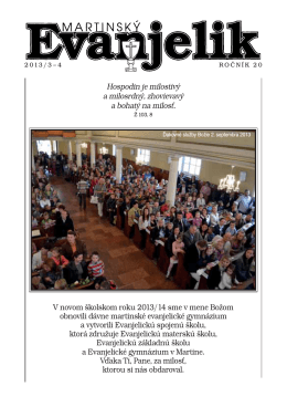 MARTINSKÝ EVANJELIK 3 - 4 / 2013 (pdf)