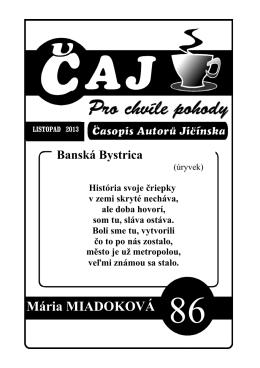 Mária MIADOKOVÁ Banská Bystrica