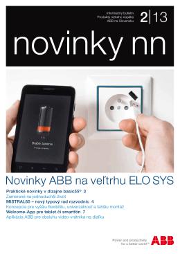 Novinky ABB na veľtrhu ELO SYS
