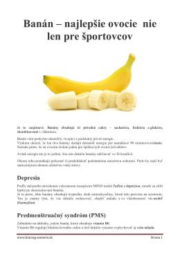 Banán – najlepšie ovocie nie len pre športovcov - fencing