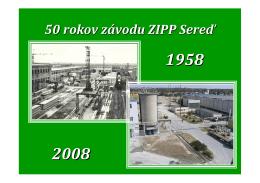 50 rokov závodu ZIPP Sereď