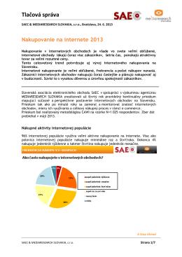 Nakupovanie na internete 2013