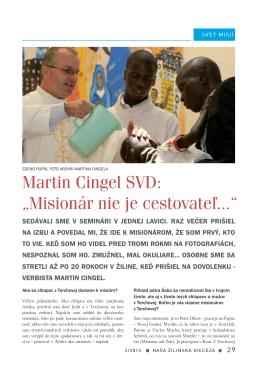"""Martin Cingel SVD: """"Misionár nie je cestovateľ..."""""""