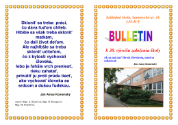 Bulletin k 30. výročiu založenia školy