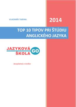 top 10 tipov pri štúdiu anglického jazyka