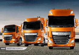 DAF model range Euro 6 brochure