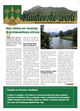 Stankovské zvesti, 2014, VII. ročník, 4. číslo