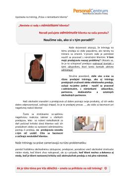 Viac informácií o tréningu Hravo riešime námietky (PDF)
